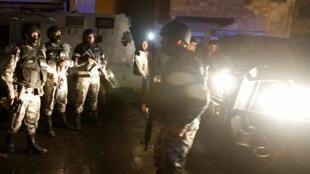 Tropas de assalto em Karak, na intervenção contra terroristas, a 18 de dezembro 2016.