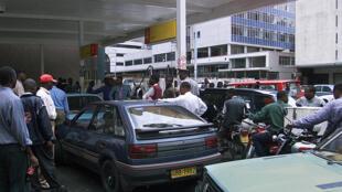 Une station-service à Harare, au Zimbabwe. (Photo d'illustration)