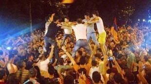 Протесты в Ереване против подорожания электричества