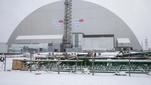 Vista panorámica del domo que cubrirá durante cien años el cuarto reactor de Chernóbil. Ucrania, 29 de noviembre de 2016.
