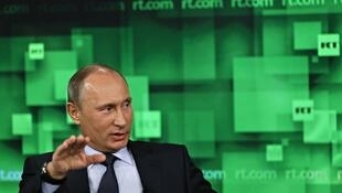 Владимир Путин в студии Russia Today