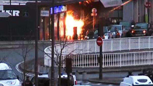 Special forces end Kosher supermarket hostage siege, Paris, 9 Jan.