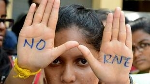 ndian students of Saint Joseph Degree college participate in an anti-rape protest in Hyderabad on 13 September  2013