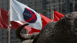 香港股市旗幟
