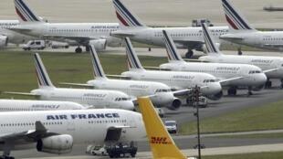 Quarto dia de greve da companhia Air France.