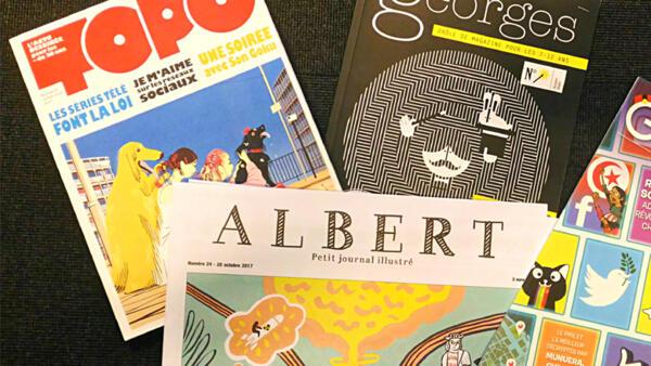 Couvertures de la presse jeunesse : Topo, Albert, Groom, Georges.