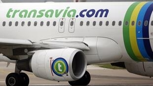 A Transavia Airbus A320 passenger jet before taking off at Paris's Orly airport