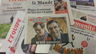 Primeiras páginas dos jornais franceses de 17 de fevereiro de 2017