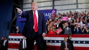 Donald Trump em campanha. Florida. 03 de Novembro de 2018.