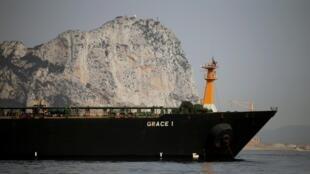 Tàu dầu Grace 1 của Iran sau khi bị Hải quân Hoàng gia Anh bắt giữ, 20/07/2019.