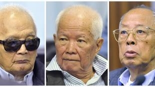 Former Khmer Rouge second-in-command Nuon Chea, former President Khieu Samphan and former Foreign Minister Ieng Sary