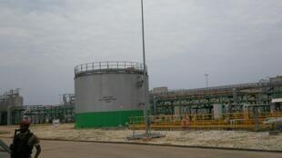 Vue des installations de la centrale électrique à gaz du Congo, le 18 février 2020.