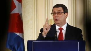 O ministro cubano das Relações Exteriores Bruno Rodríguez contestou o endurecimento do embargo anunciado por Donald Trump.