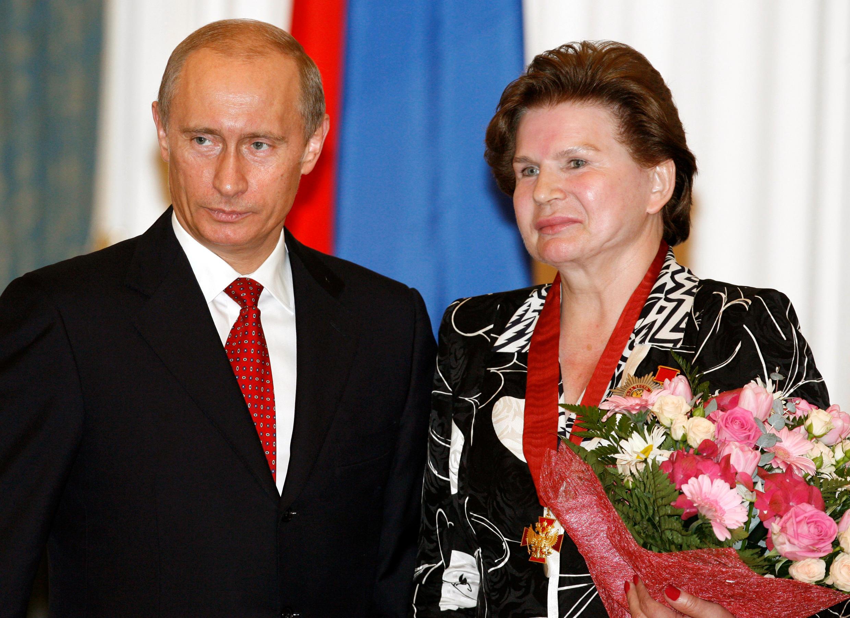 Владимир Путин и Валентина Терешкова в Кремле 22 мая 2007.
