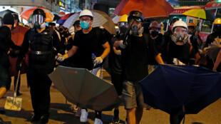 Des manifestants se rassemblent contre la loi anti-extradition à Prince Edward, Hong Kong, le 6 septembre 2019.