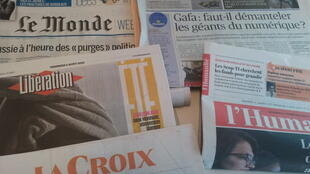 Primeiras páginas dos jornais franceses 02 de agosto de 2019