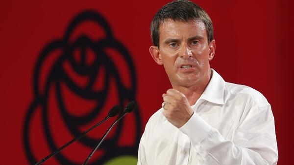 O primeiro-ministro francês, Manuel Valls, em encontro anunal do PS, em La Rochelle. 31/08/14