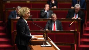 La ministre du Travail Muriel Pénicaud devant les députés à l'Assemblée nationale. (Photo d'illustration).