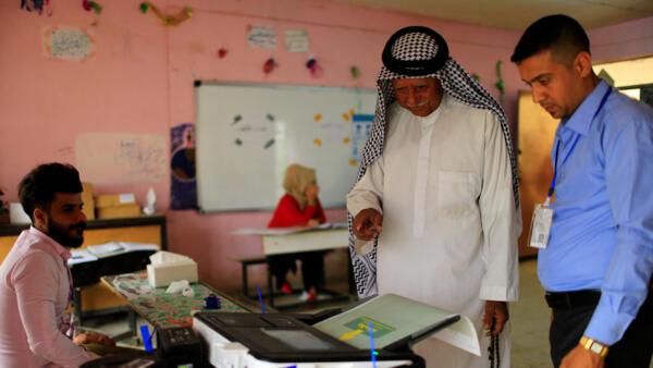 2018年5月12日,伊拉克首都巴格達某投票站。