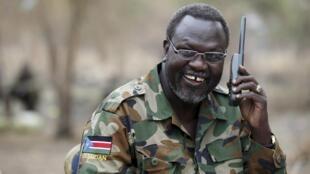 L'ex-chef des rebelles sud-soudanais Riek Machar, ici en février 2014, se trouverait en Afrique du Sud.