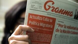 Les Cubains ont appris la mise en place de la nouvelle politique migratoire via l'organe officiel, «Granma».