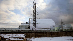 The New Safe Confinement covering the damaged fourth reactor at the Chernobyl nuclear power plant