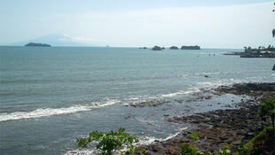 Ocean at Limbe, Southwest Province, Cameroon.