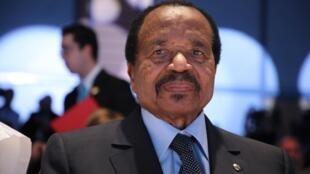 Le président du Cameroun Paul Biya, ici le 10 octobre 2019.