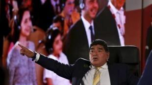 O argentino Diego Maradona vai ser candidato à presidência da FIFA.