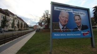 An AfD poster in Frankfurt an der Oder