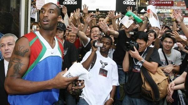 Kobe Bryant a très vite pressenti le marché que représentait la Chine. Ici à Hong Kong, en septembre 2007.