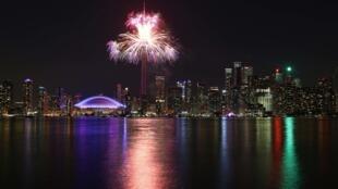 Cerimônia de encerramento dos Jogos Pan-Americanos de Toronto no domingo.