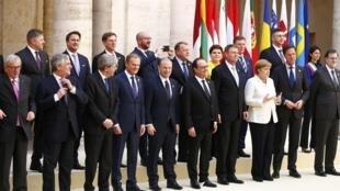 Líderes europeus celebraram o 60° aniversário do Tratado de Roma na capital italiana, em 25 de março de 2017.