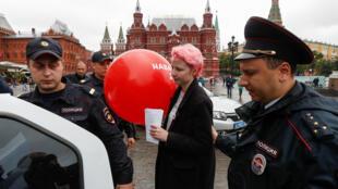 Задержание волонтера штаба Алексея Навального в Москве, 8 июля 2017 г.