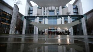 Vue de la Chancellerie allemande, à Berlin, où se tient la conférence sur la Libye, ce dimanche 19 janvier 2020.