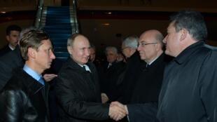 Le président russe Vladimir Poutine à son arrivée à Istanbul, le 7 janvier 2020.