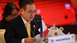 Ảnh minh họa : Ngoại trưởng Philippines Teodoro Locsin tại hội nghị bộ trưởng ASEAN-Trung Quốc tại Bangkok ngày 31/07/2019.