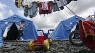 Le camp de réfugiés ukrainiens de Novoshakhtinsk, dans la région de Rostov-sur-le-Don, près de la frontière Russie-Ukraine, le 9 juillet 2014.