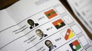 Ballot paper used in Angola's 2012 polls.