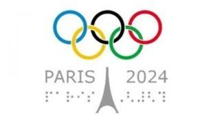 Símbolo da candidatura de Paris aos Jogos de 2024.