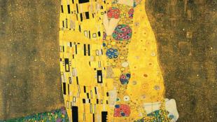 奧地利畫家克里姆特繪製的《吻》