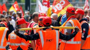 Забастовка железнодорожников в Лионе, 12 июня 2018 г.