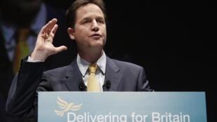 British deputy PM Nick Clegg