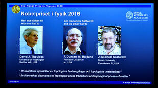 David Thouless, Duncan Haldane e Michael Kosterlitz,  Prémio Nobel  da Física 2016