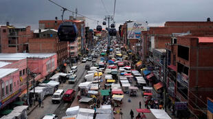 La Paz, capitale de la Bolivie.