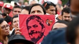 Manifestantes pró-Lula da Silva em Brasília. 04 de Abril de 2018