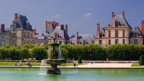 La fontaine du Château de Fontainebleau.