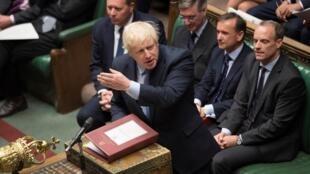 Le Premier ministre britannique Boris Johnson devant le Parlement, le 4 septembre 2019.
