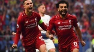 L'Égyptien Mohamed Salah, buteur en finale de la Ligue des champions avec Liverpool face à Tottenham.