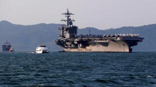 Hàng không mẫu hạm Mỹ USS Carl Vinson đến Đà Nẵng, ngày 05/03/2018.